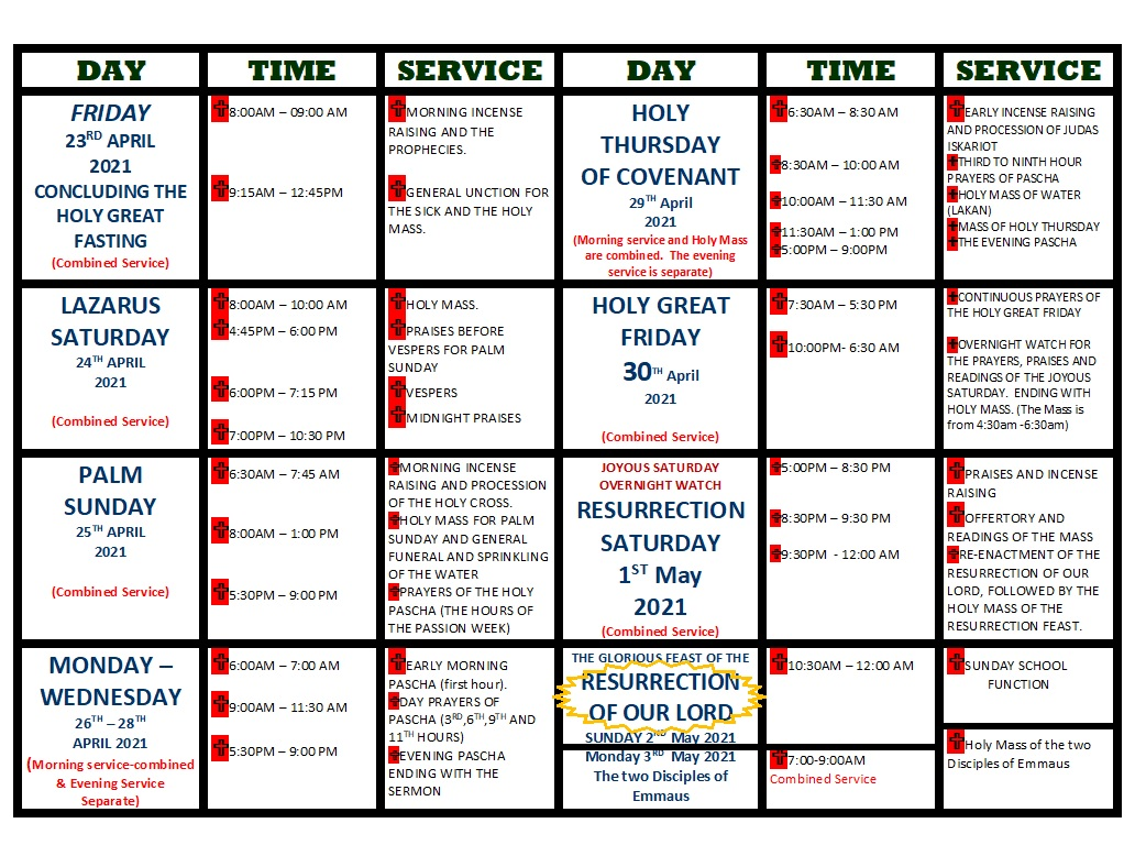 pascha week program